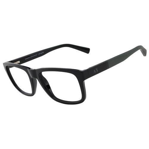 Armani Exchange Ax 3025l 8178 Preto T53 Óculos de Grau