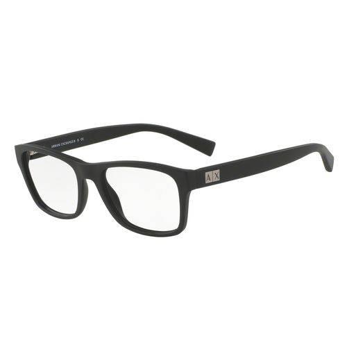 Armani Exchange Ax 3039L 8078 Preto Fosco T54 Óculos de Grau