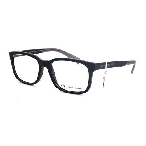 Armani Exchange Ax 3029l 8182 Preto Fosco T54 Óculos de Grau