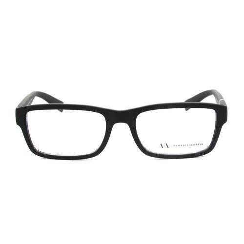 Armani Exchange Ax 3023l 8078 Preto Fosco T53 Óculos de Grau