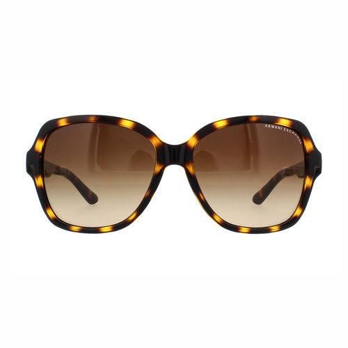 Armani Exchange Ax 4029s 811713 Marrom Tartaruga Translúcido T57 Óculos de Sol