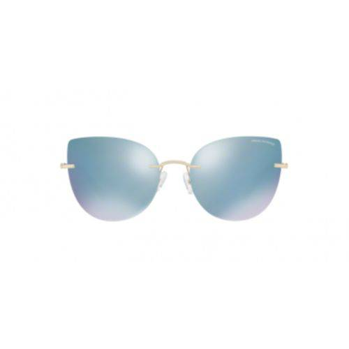 Armani Exchange AX2025S 60446J Ouro Lente Espelhada Azul Branco Tam 56