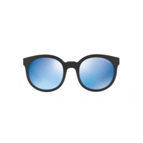 Armani Exchange AX4057S 826355 Preto Lente Espelhada Azul Tam 53