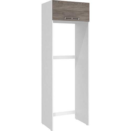 Armário de Geladeira Art In Móveis Cz705 1 Porta Basculante Branco/Rústico - 215x70x50,2cm