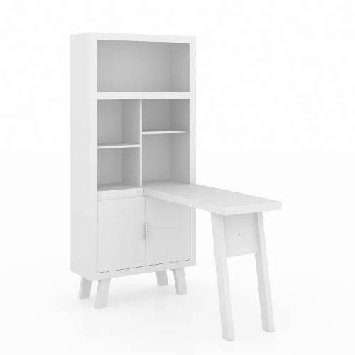 Armário Escrivaninha Me4125 Branco Tecno Mobili