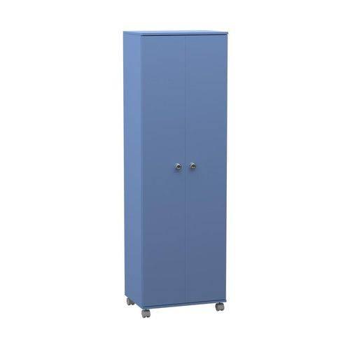 Armario Multiuso Alto 2 Portas Azul