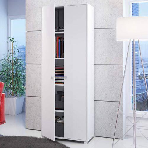 Armário Multiuso 2 Portas BAM 02 Office BRV Móveis Branco