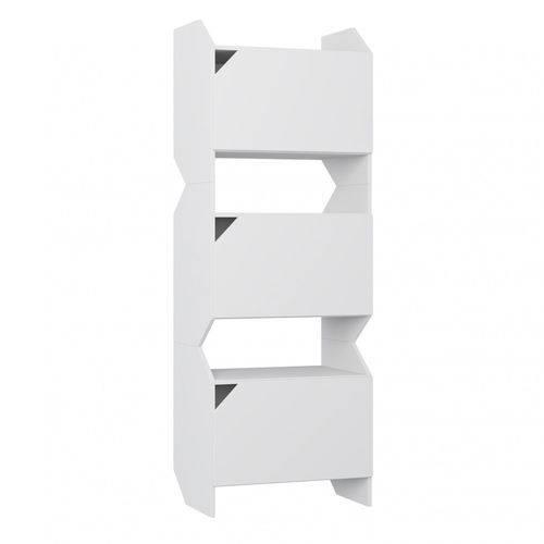 Armário Multiuso 3 Portas Soul Moderno Be Mobiliário Branco