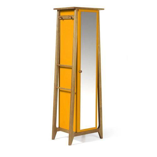 Armário Multiuso Stoka Nogal e Amarelo