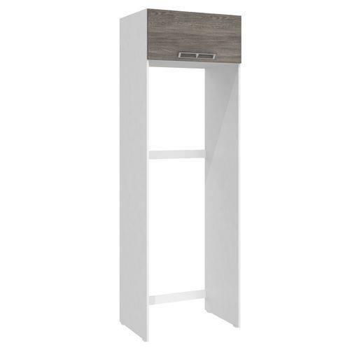 Armário para Geladeira Art In 70cm 1 Porta Basculante Branco/rústico