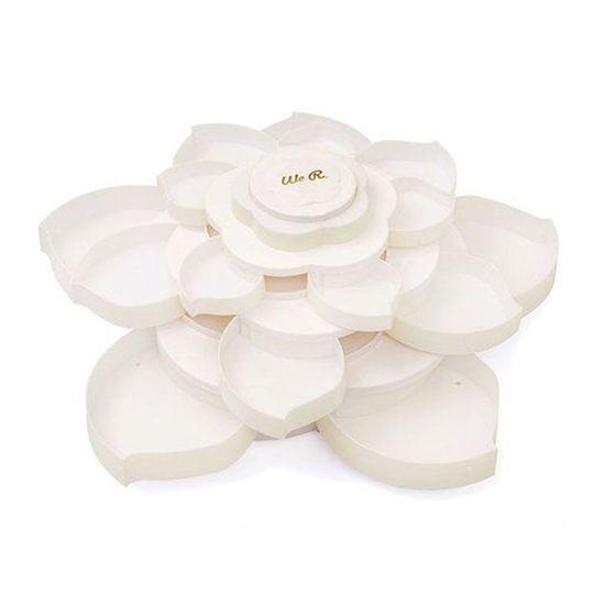 Armazenador de Materiais Bloom WER183 Bloom Embellishment Storage Off-White