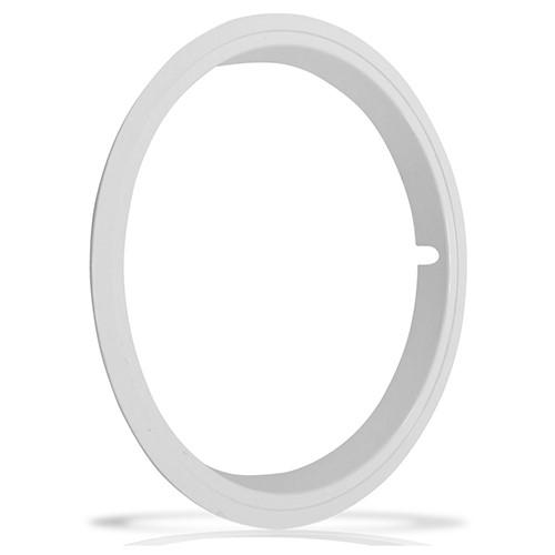 Aro Branco Sobre Roda Aro 15 Polegadas Universal Fixado por Pressão
