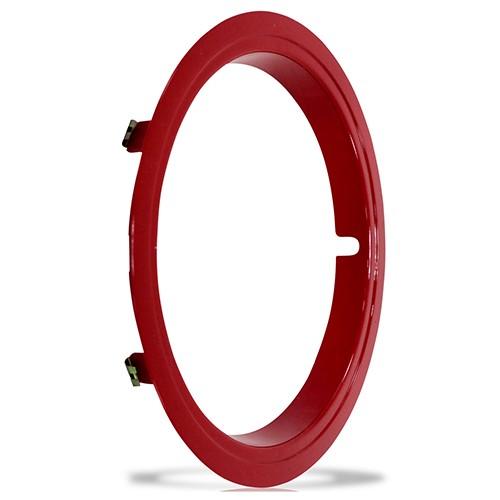 Aro Vermelho Sobre Roda Aro 14 Polegadas Universal Fixado por Pressão