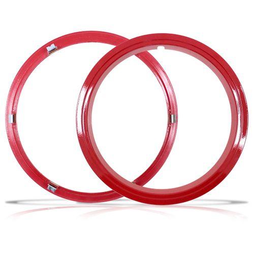 Aro Vermelho Sobre Roda Aro 15 Polegadas Universal Fixado por Pressão