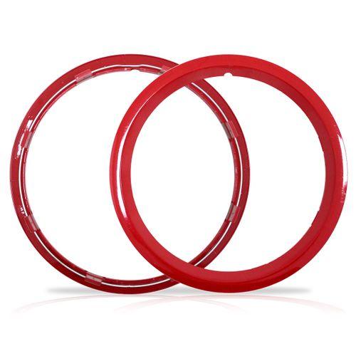 Aro Vermelho Sobre Roda Aro 16 Polegadas Universal Fixado por Pressão