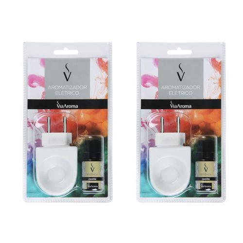 2 Aromatizador Difusor Aromas Via Aroma Vanilla