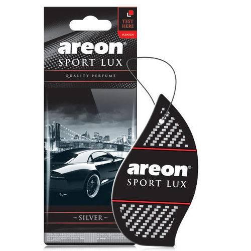 Aromatizante de Carro Sache Areon Sport Lux Silver Prata - Perfume Automotivo