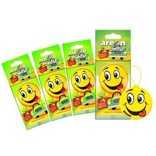 Aromatizante de Carro Sache Smile Tutti Frutti Frutas - Perfume Automotivo - 4 Unidades