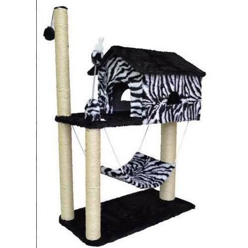 Arranhador Casa para Gatos com Rede Zebra Inovação Pet