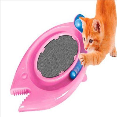 Arranhador Gato Durapets Peixe com Comedouro Bolinha