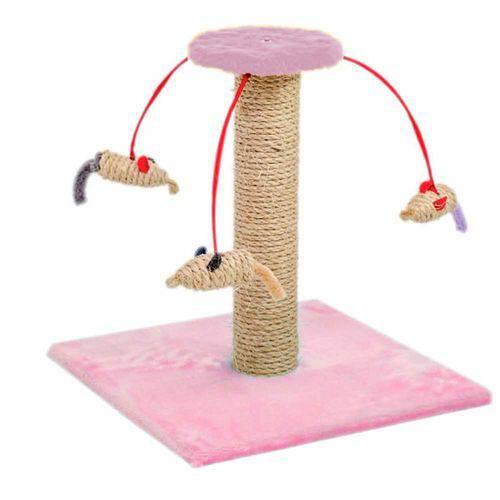 Arranhador para Gatos Carrossel Medio Rosa