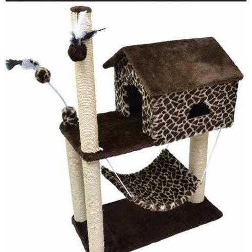 Arranhador para Gatos Casa House em Pelúcia Inovação Pet