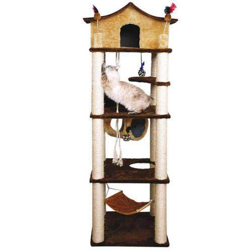 Arranhador para Gatos Castelo Pelúcia Lisa