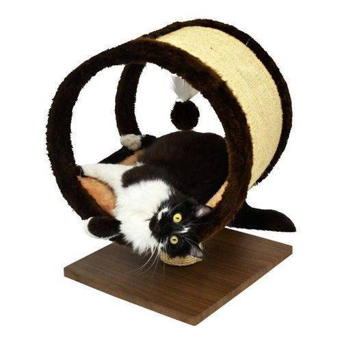 Arranhador para Gatos Ring com Base de Madeira