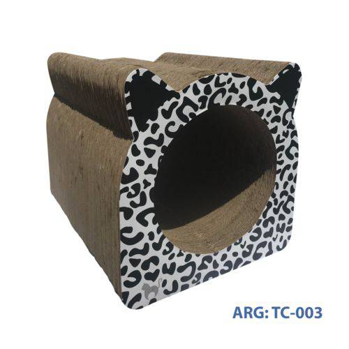 Arranhador para Gatos Toca Leopardo Branco
