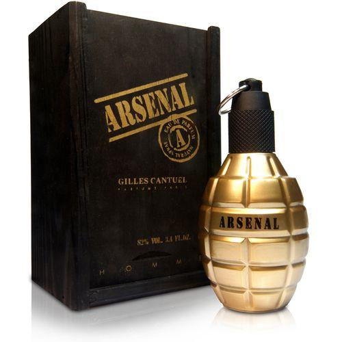 Arsenal Gold Masculino de Gilles Cantuel Eau de Parfum 100 Ml