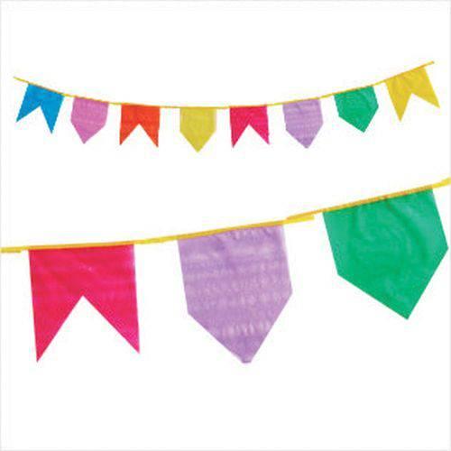 Artigo para Decoracao Bandeirinha Plastica 10mts. Real Seda