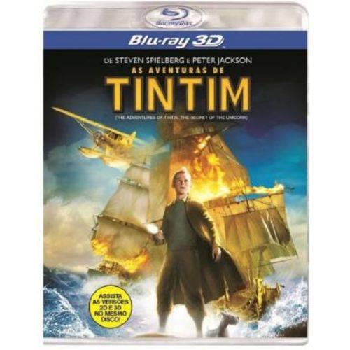 As Aventuras de Tintim - Blu-Ray 3D Filme Infantil
