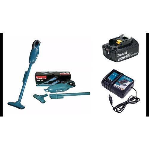 Aspirador Pó Bateria Makita 18V com Carregador Bivolt + 1 Bateria 18V 3.0AH