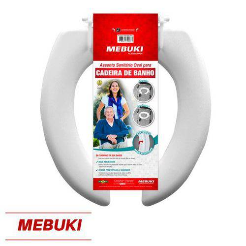 Assento Aberto para Cadeira de Banho 3cm Mebuki