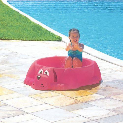Assento Piscina Aquadog Rosa Infantil Tramontina