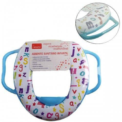 Assento Sanitário Infantil Estampado Almofadada com Alça