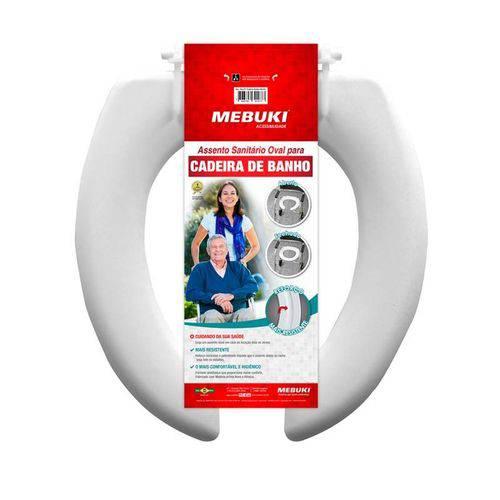 Assento Sanitário Oval para Cadeira de Banho Aberto 39X44cm Mebuki