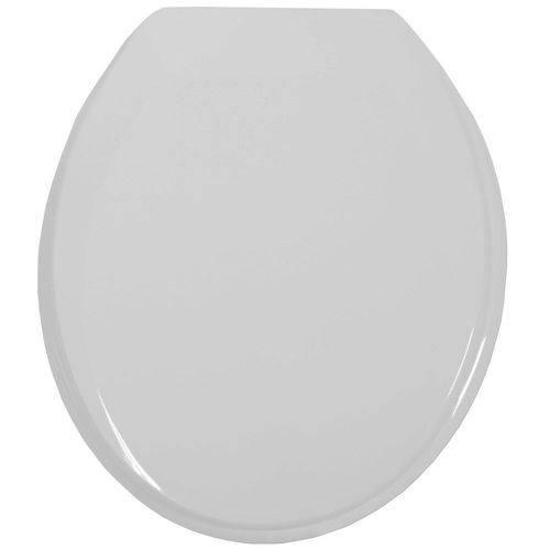 Assento Sanitario Oval Pp Prime Cinza Claro/prata 1110480 Tupan