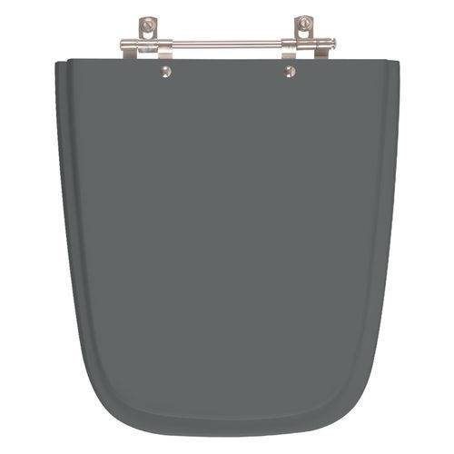 Assento Sanitário Aero Cinza Quartzo (Cinza Escuro) para Louça Ideal Standard