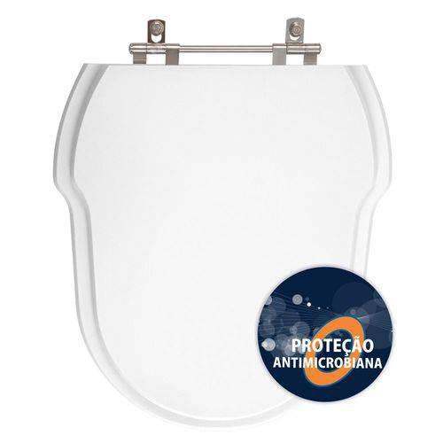 Assento Sanitário Poliéster Anti Bactéria Hampton Branco para Vaso Incepa Laufen