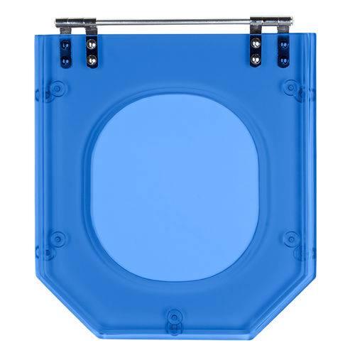 Assento Sanitario Poliester Atrium Azul Translucid para Louça Incepa