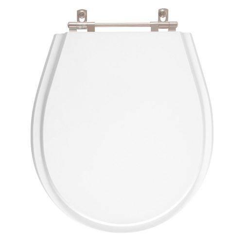 Assento Sanitário Poliéster Avalon Branco Neve para Vaso Ideal Standard