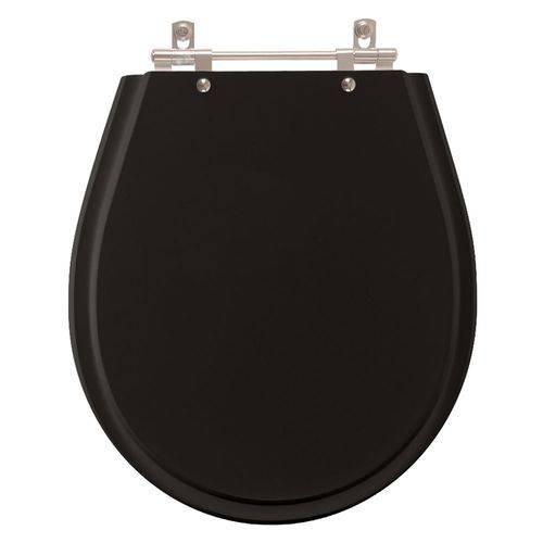 Assento Sanitário Poliéster Avalon Premium Ebony (Preto) para Vaso Ideal Standard