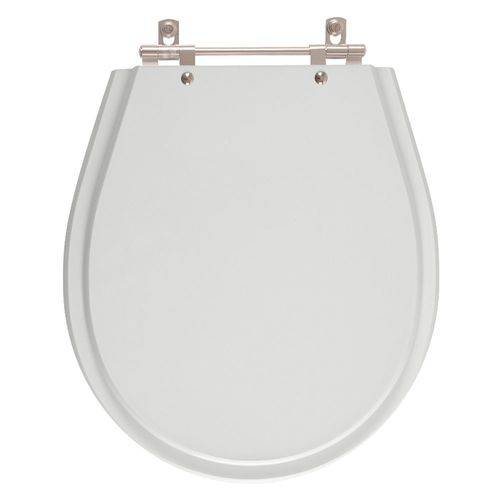 Assento Sanitário Poliéster Avalon Sterling Silver (Cinza Claro) para Vaso Ideal Standard