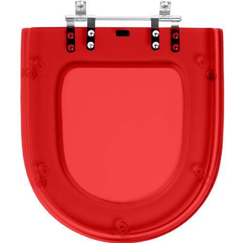Assento Sanitario Poliester Carrara Vermelho Transl para Louça Deca
