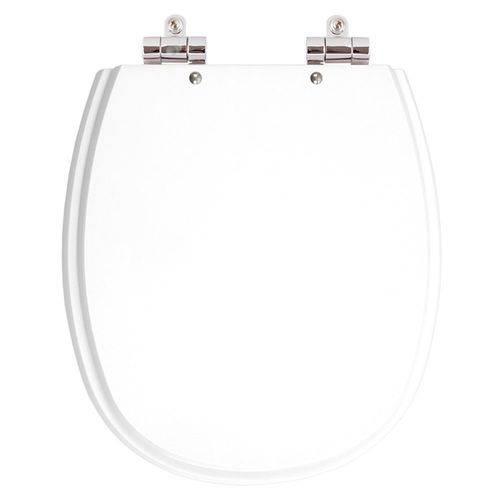 Assento Sanitário Poliéster com Amortecedor Aspen Branco para Vaso Deca
