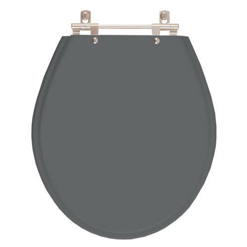 Assento Sanitário Carina Cinza Quartzo (Cinza Escuro) para Louça Ideal Standard