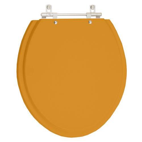 Assento Sanitário Poliéster com Amortecedor Lirio Amarelo Terra para Vaso Celite