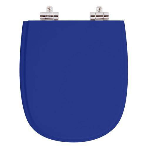Assento Sanitário Poliéster com Amortecedor Sabatini Azul para Vaso Icasa