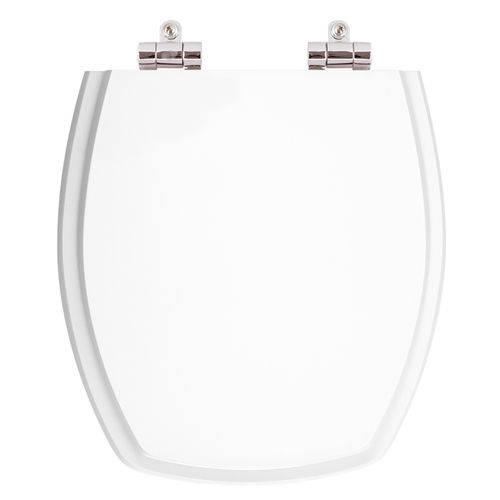 Assento Sanitário Poliéster com Amortecedor Thema Branco para Vaso Incepa